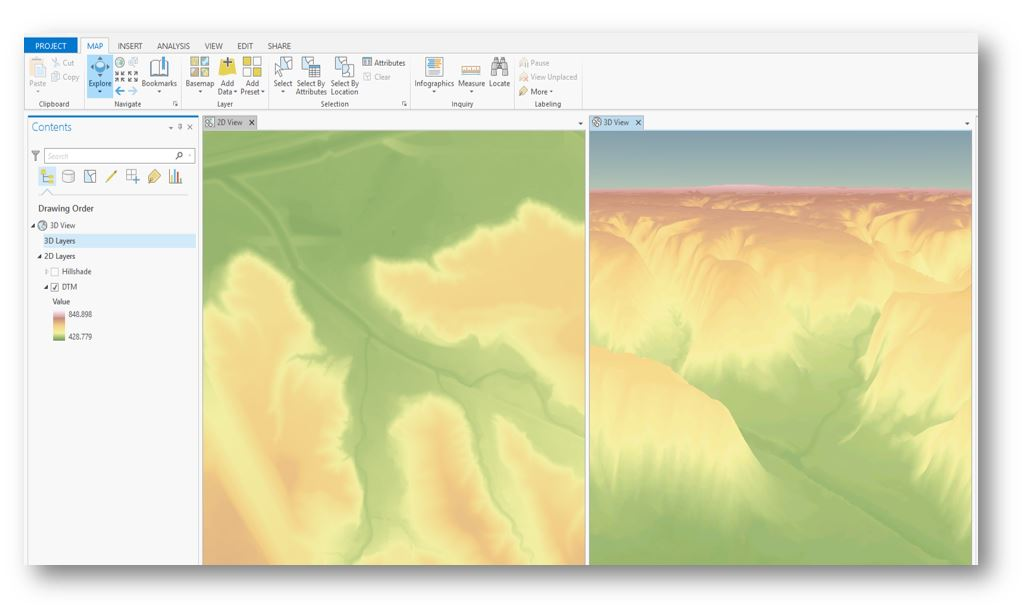 Linked views in ArcGIS Pro