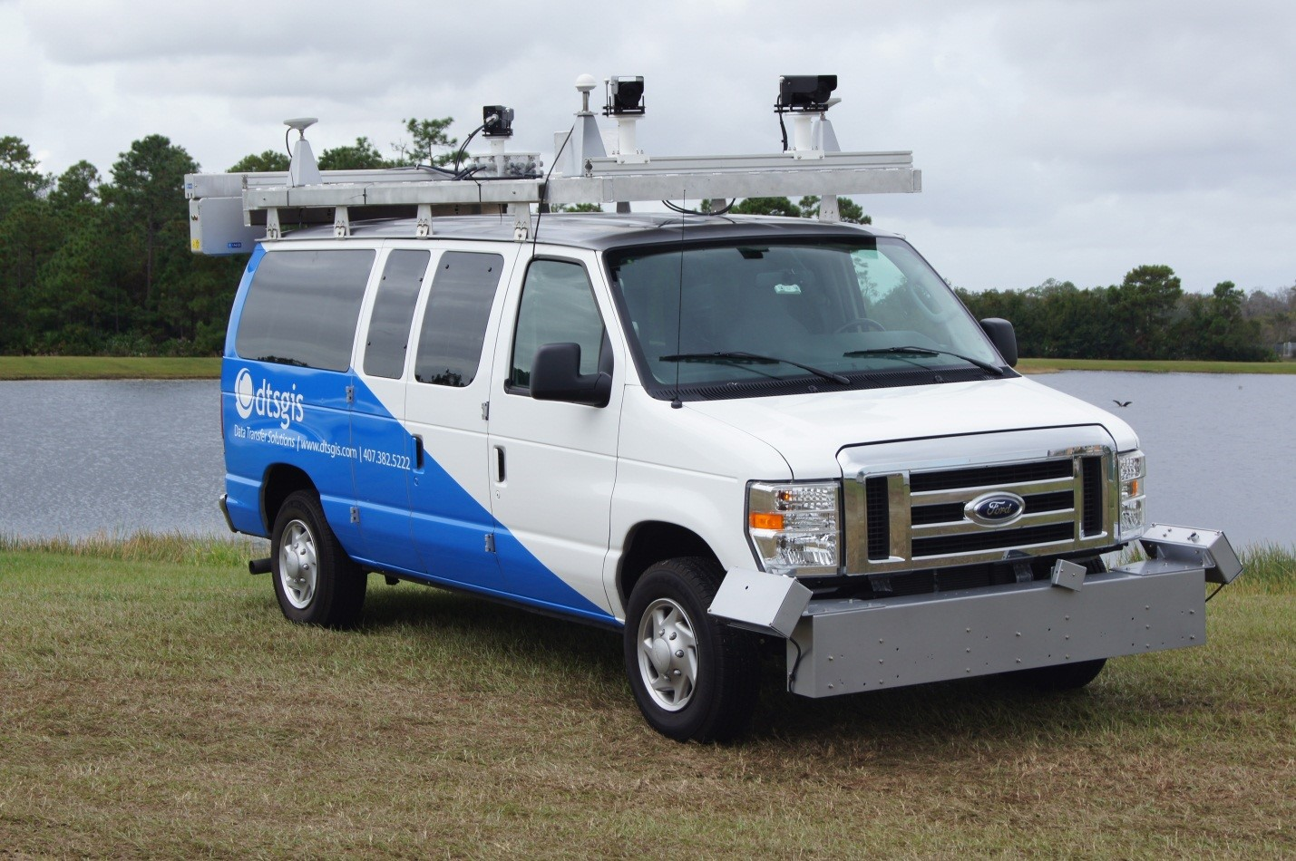 Here you see DTS's mobile asset collection van equipped with highly sensitive laser scanning equipment. This van will be the main data collection tool for the City of Peoria project.
