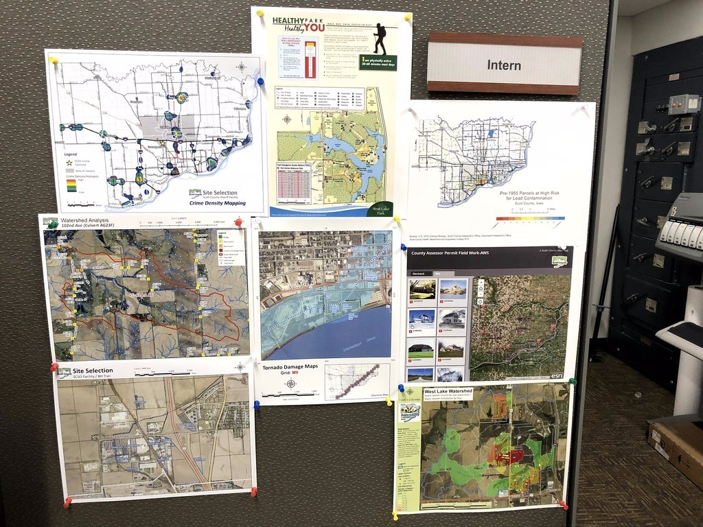 Here you can see some of the maps that Ray and Sunny have compiled for Scott County.