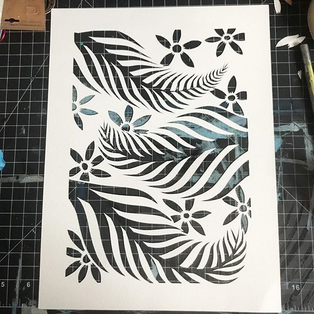 Progress is slowly being made with these ferns. This is the third version (I messed up the first two). #workinprogress #papercut #workhardplayhard #ferns #plants #art #illustration #artistsoninstagram