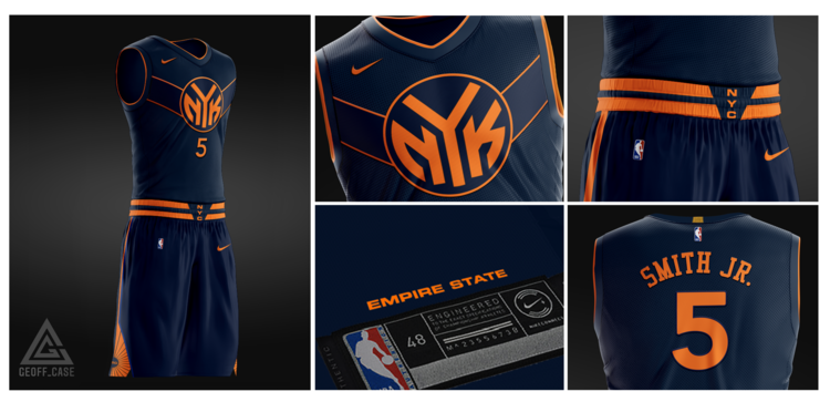 New York Knicks Empire State Jersey Concept 1man Agency