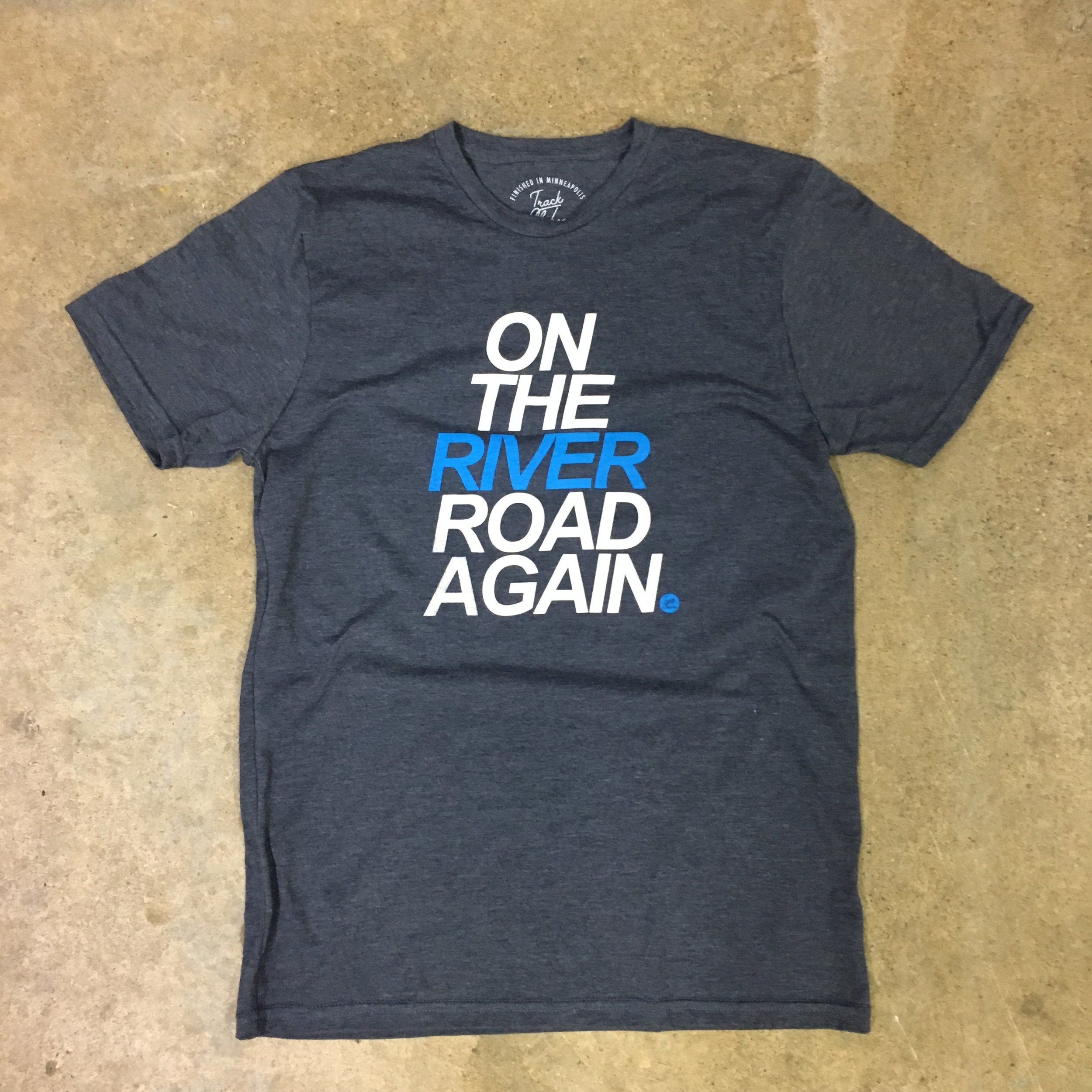 MORE THAN A TEE: - The On the River Road Again tee is more than just another shirt. It's a super soft water-based print on a t-shirt that was produced as sustainably as possible using organic cotton, modal and recycled polyester. We are also donating $5 from each shirt sale to the Friends of the Mississippi River. More information...