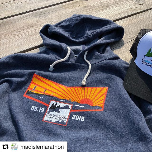 "#tbt to last Thursday's Madeline Island Marathon printing. These hoodies sold out at the marathon last weekend but are now available on our online store for a limited time.  #Repost @madislemarathon with @get_repost ・・・ Race Hoodies Available Now!  We know a lot of you wanted a super soft Madeline Island Marathon hoodie, and they sold out very fast at the race tent! Luckily, our friends @trackclubco are making them available online for two weeks. The online shop will stay open until June 7, so order your hoodie while you can! Link in our bio. Click on ""Order a Hoodie"" #madislemarathon #madelineisland #marathon #halfmarathon #racegear #hoodies #limitedtimeonly"