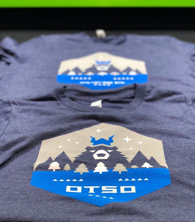 New @otsocycles tees rolling off the dryer. #waterbased #screenprinting #otsocycles #fatbikes #gravelbikes