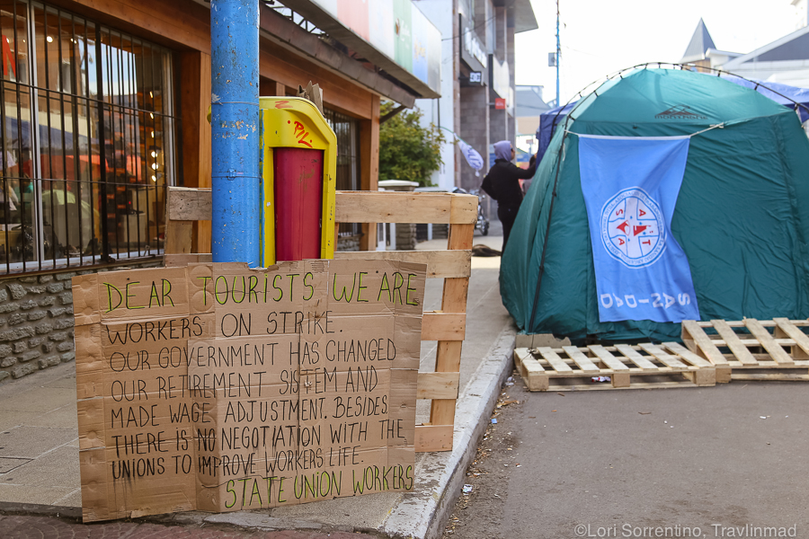 Government Protest, Ushuaia, Argentina