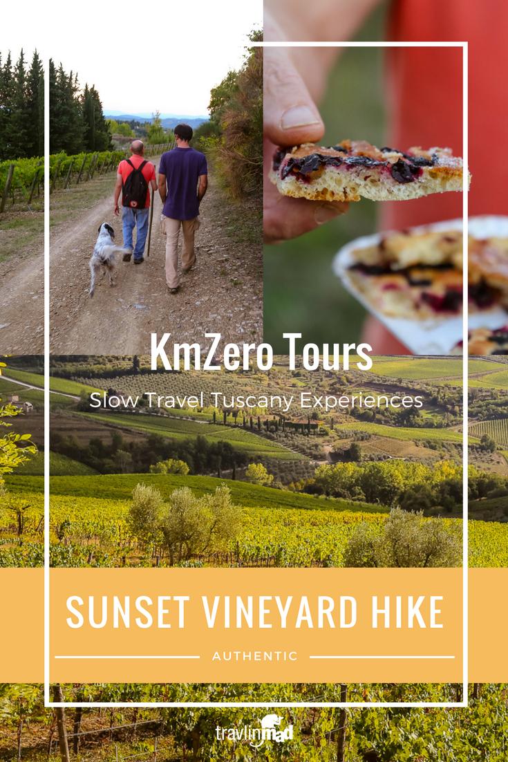 Sunset vineyard hike, Chianti