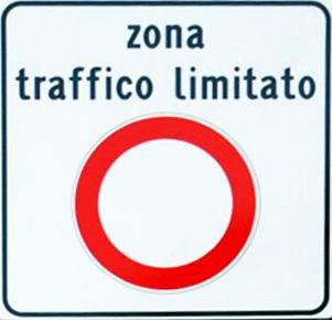 ZTL road sign