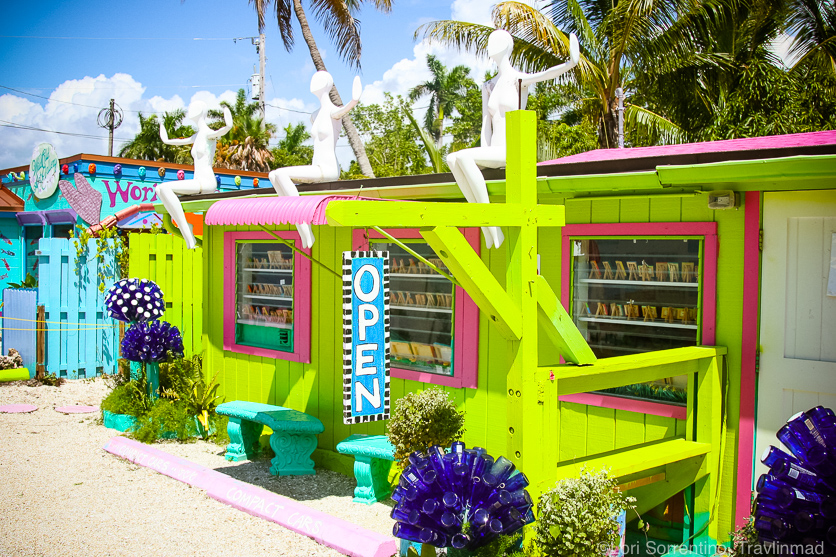 Fun art galleries, shops, restaurants and bars make up Matlacha Island, with a colorful palette everywhere!