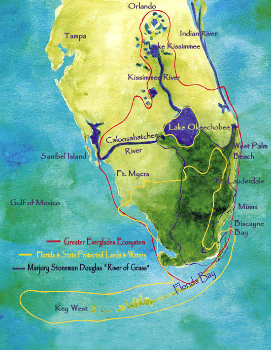 Map courtesy of the  Everglades Foundation