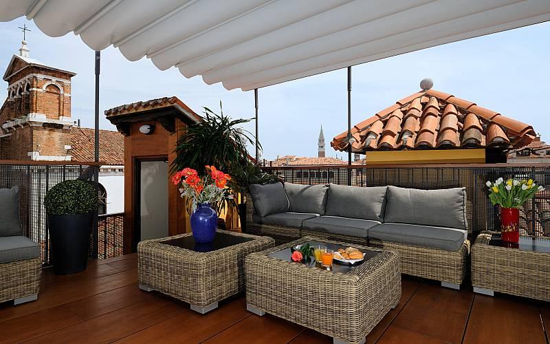 Terrace at Hotel Ala, Venice, Italt