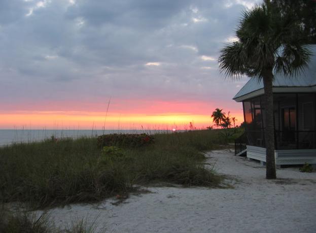 Sunset at Shalimar Cottages, Sanibel Island, Florida