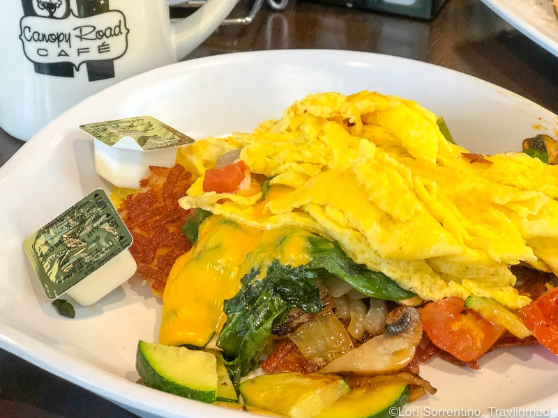 Breakfast egg scramble at the Canopy Cafe, Tallahassee, Florida