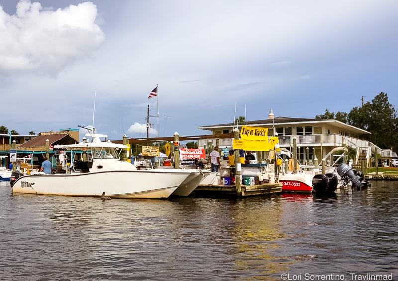 Scallop shucking boat, Homosassa, Florida