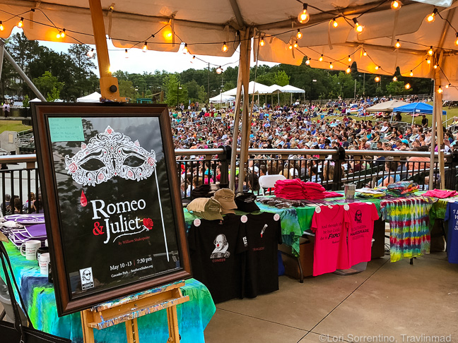 Shakespeare in the Park, Capital City amphitheater, Cascades Park in Tallahassee, Florida