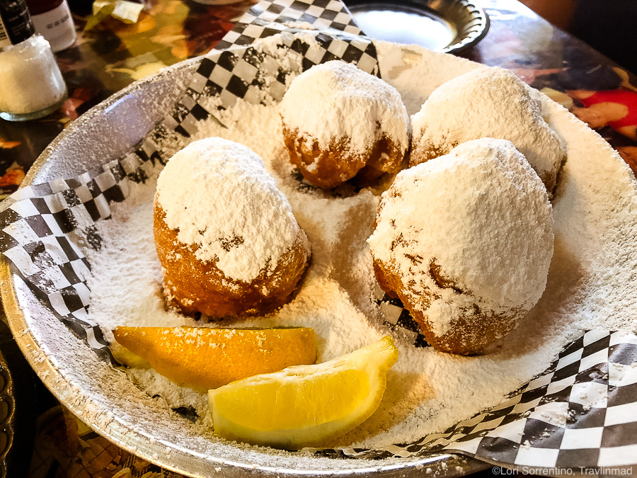 Most Fun Mobile Food - Beignets with lemon spritz at Panini Petes!