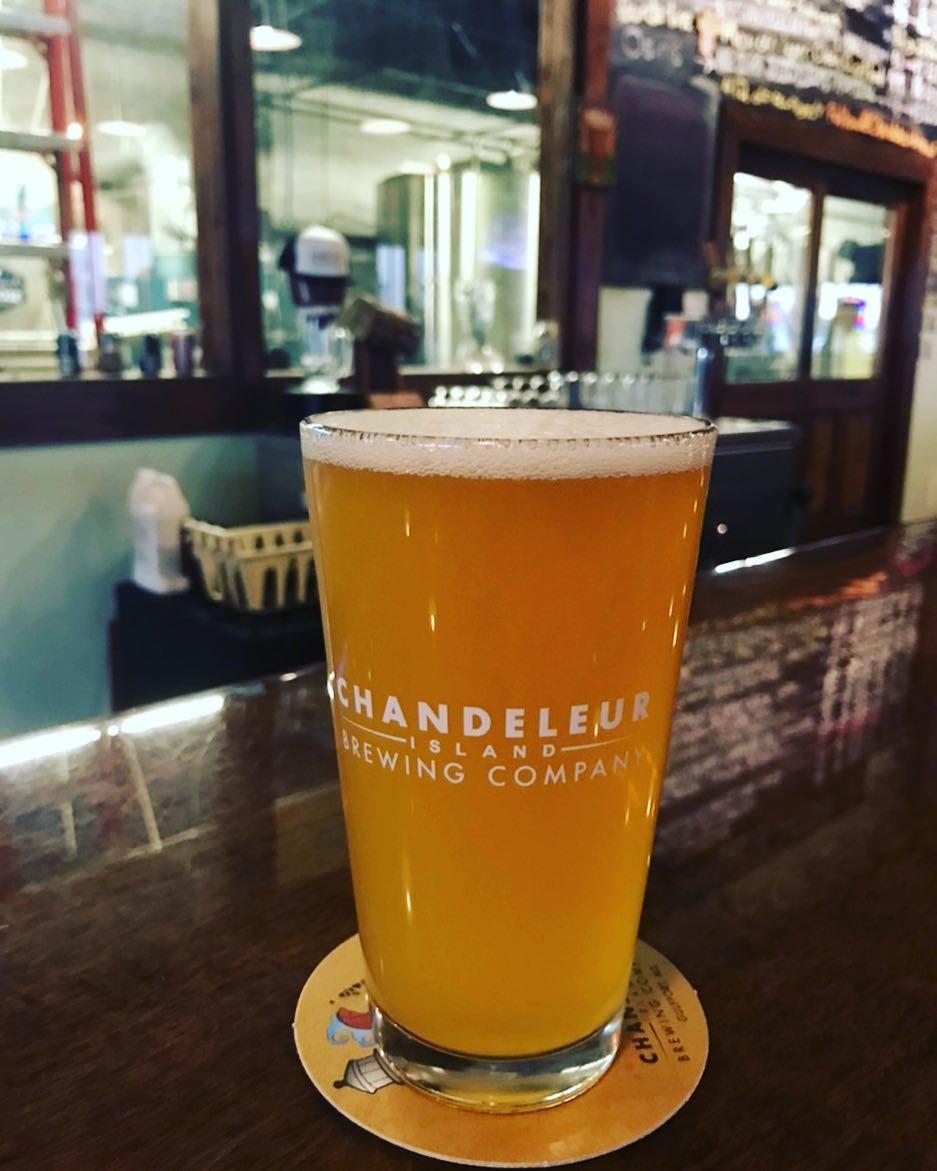 Craft beer at Chandeleur Island Brewing, Gulfport, Mississippi