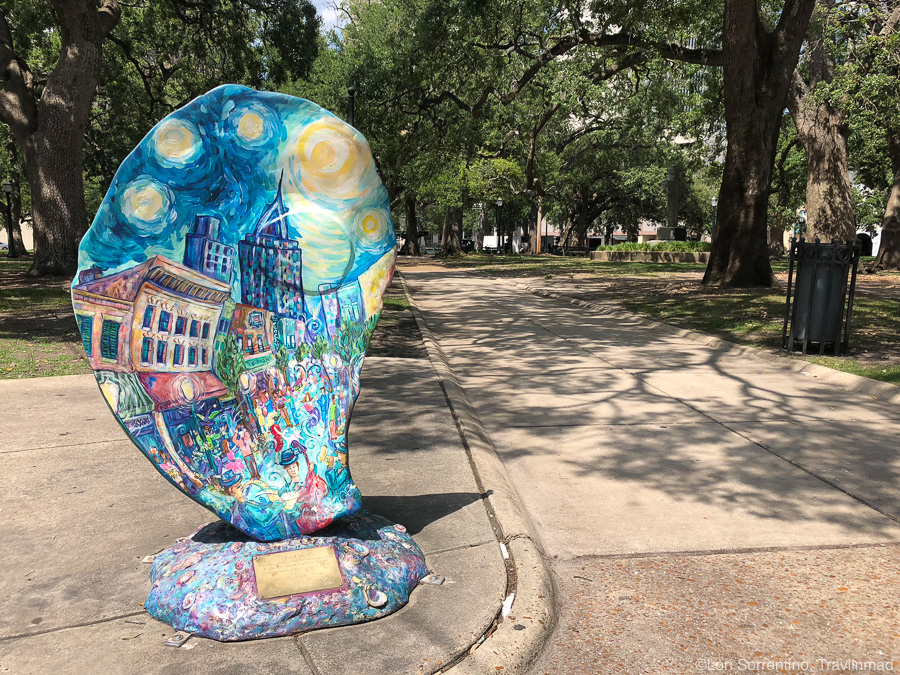 Oyster shell in downtown Mobile, Alabama