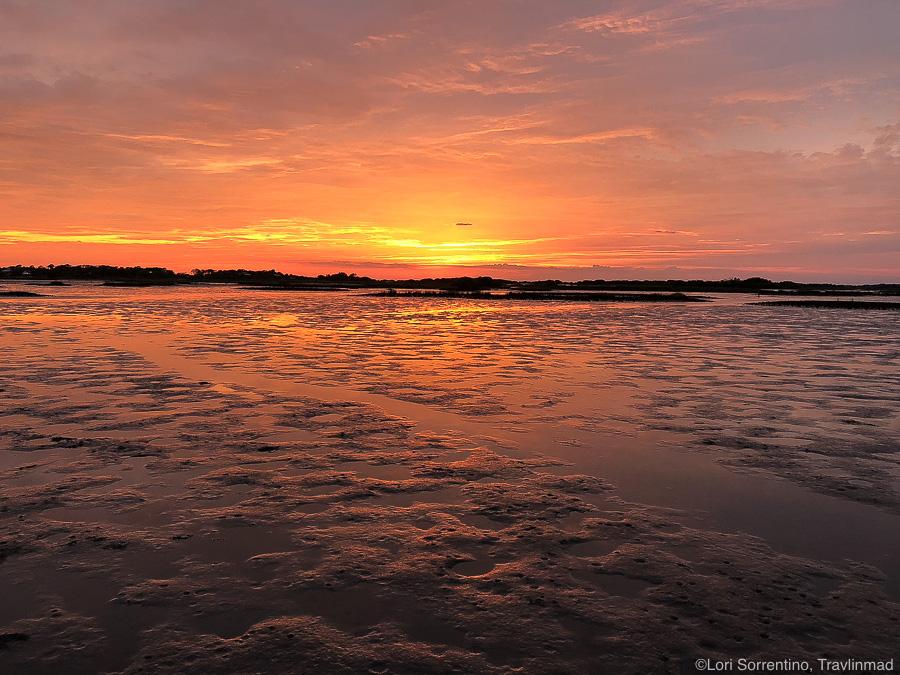 Beautiful sunset off Cedar Key, Florida