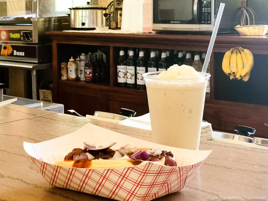 Fun Food at Wakulla Springs - A Ginger Yip at the soda fountain!