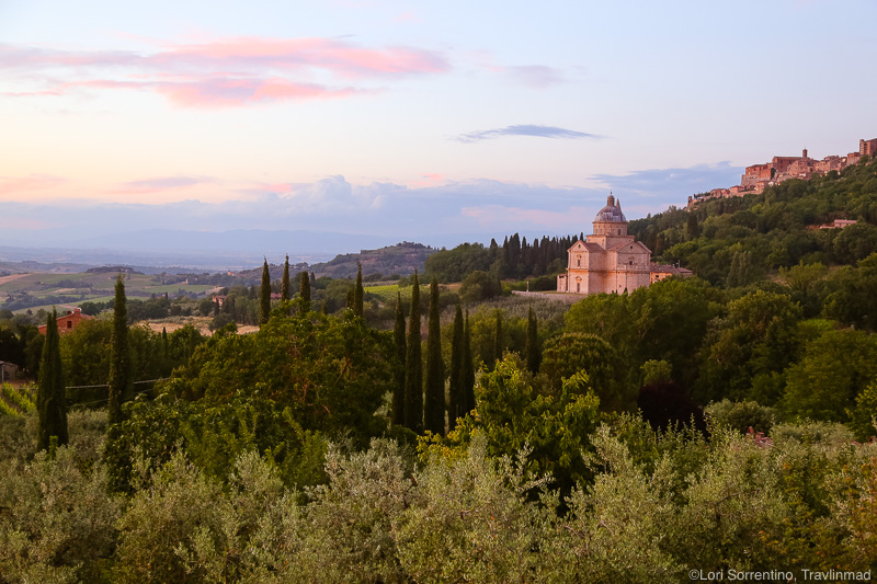 Sunset on the Church of San Biagio, Montepulciano, Tuscany, Italy