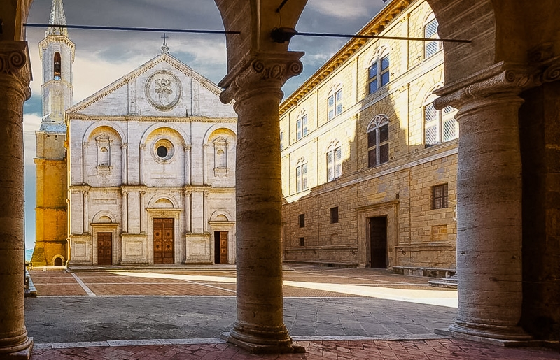 Scenic Drives In Tuscany, Pienza, Tuscany Val d'Orcia, Italy
