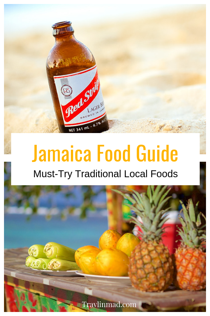 Whatever's fresh and locally available is what's on the Jamaican menu. Here are the traditional foods in Jamaica, along with desserts, drinks, and a favorite rum cocktail recipe!