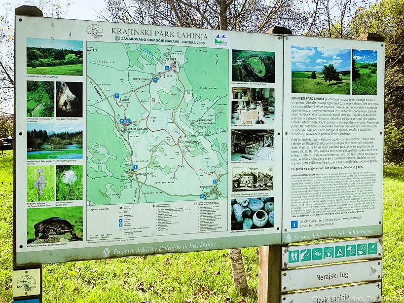 Hiking at Krajinski Park Lahinja in Bela Krajina, Slovenia