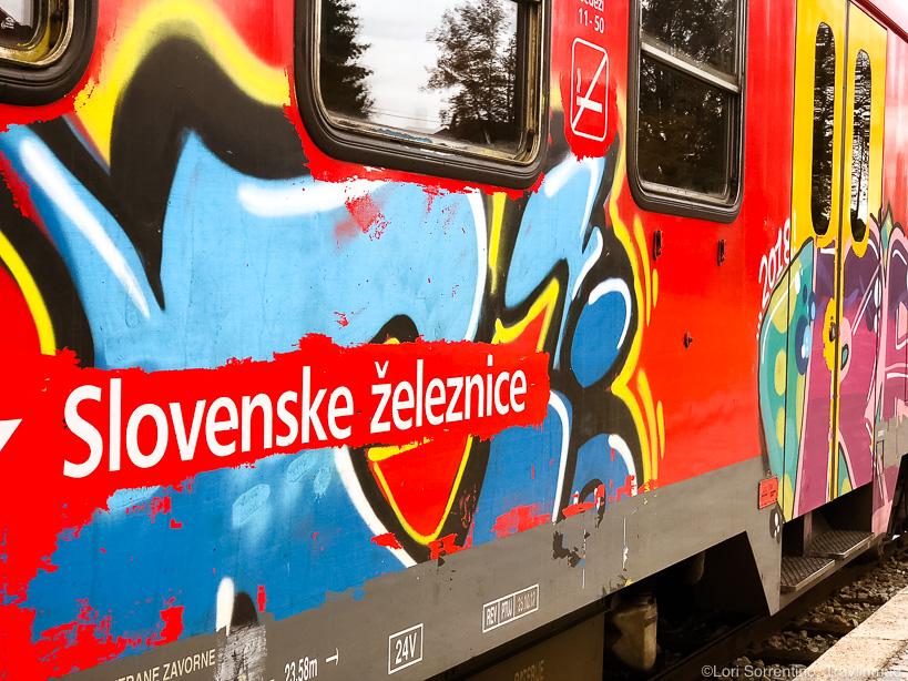 Taking the train from Primostek to Ljubljana, Slovenia