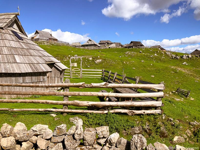 Museum, Herdsmen settlement, Velika Planina, Slovenia