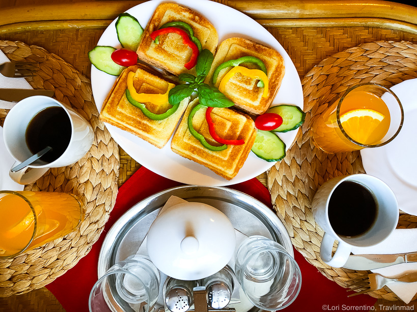 Breakfast at Pension U Kaplicky, Cesky Krumlov, Czech Republic