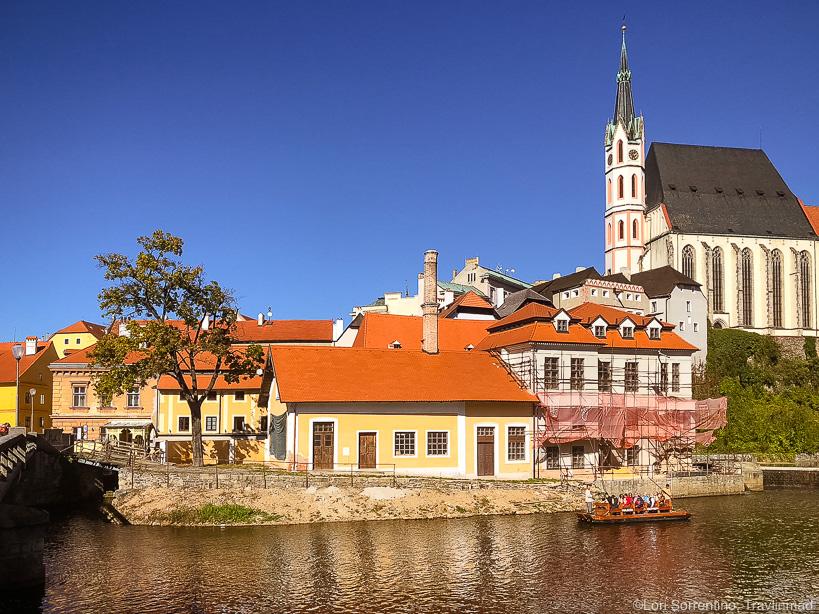 Paddling on the Vltava River, Cesky Krumlov, Czech Republic