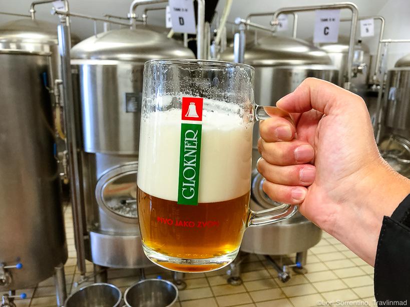Glokner beer, Svachovka hotel near Cesky Krumlov