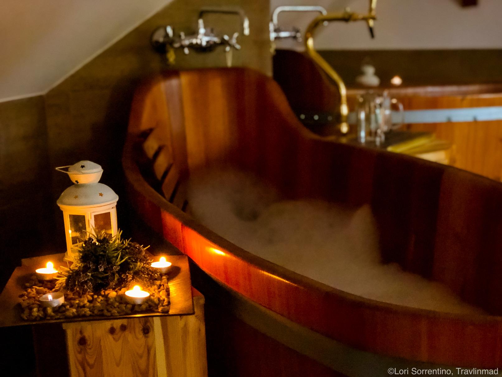 Beer spa at Svachovka hotel near Cesky Krumlov