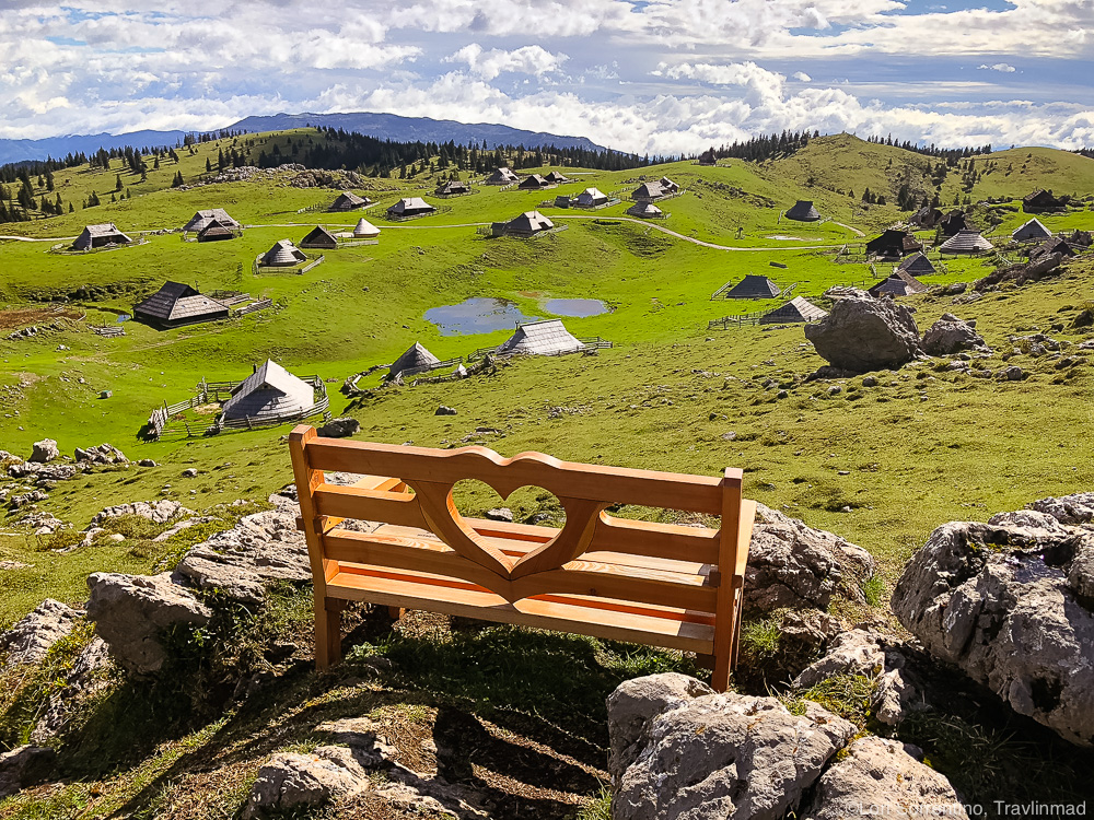 Velika Planina mountain plateau in the Kamnik-Savinja Alps, Slovenia