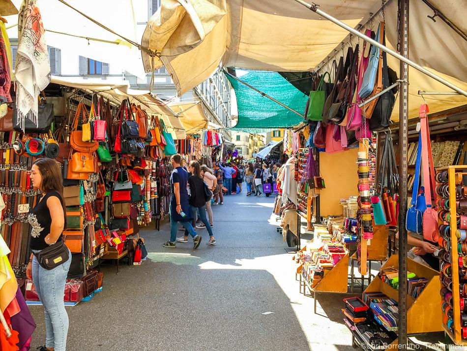 The San Lorenzo Market, Florence, Italy