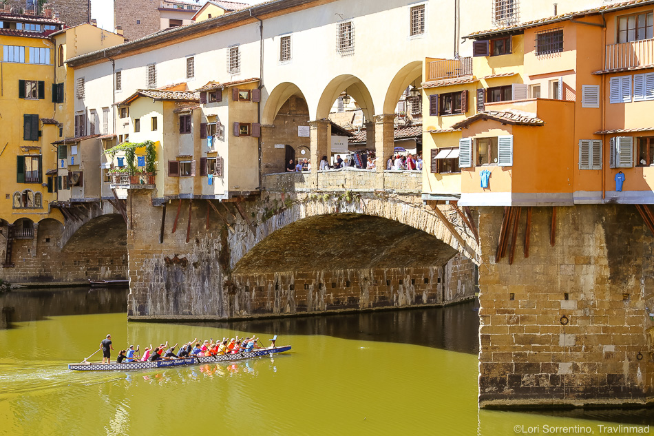 View of the Ponte Vecchio, Florence, Italy