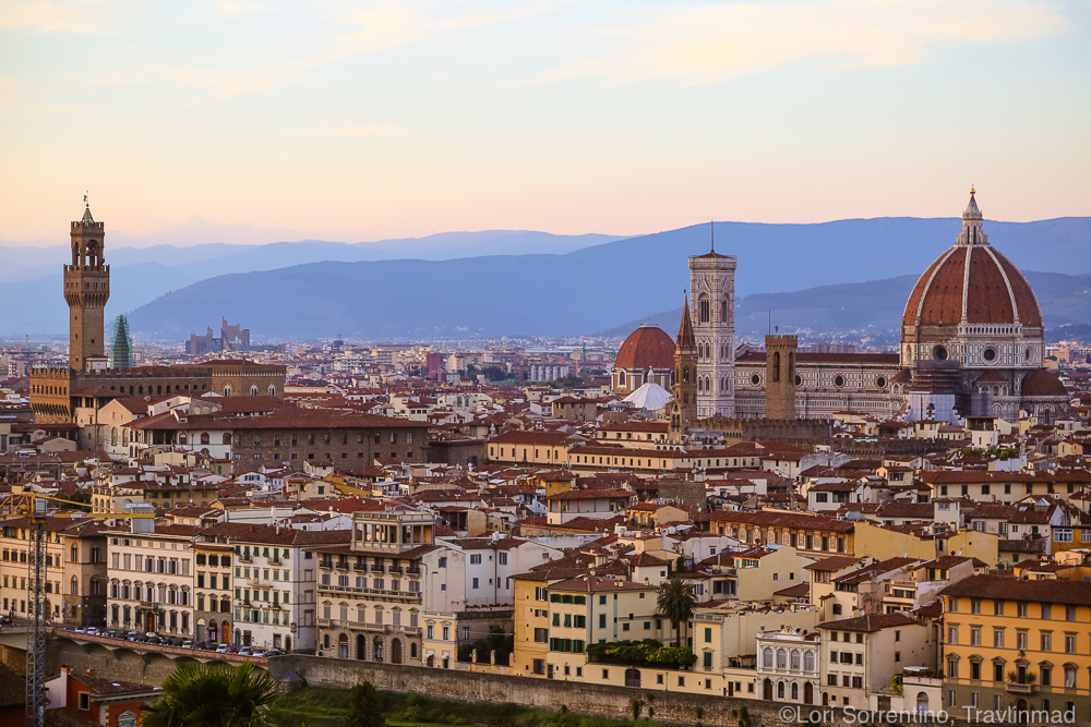 View from the Piazzale Michelangelo, Florence, Italy