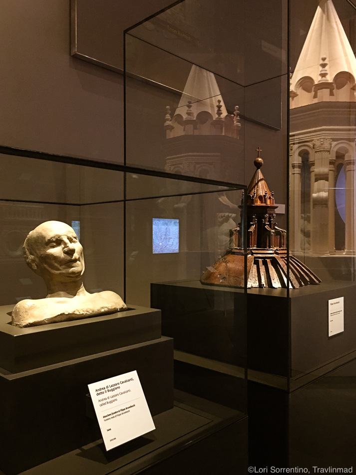 The death mask of Filippo Brunelleschi, engineer and architect of the Florence Duomo.