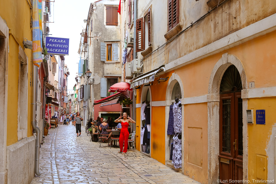 Rovinj shopping, Istria, Croatia