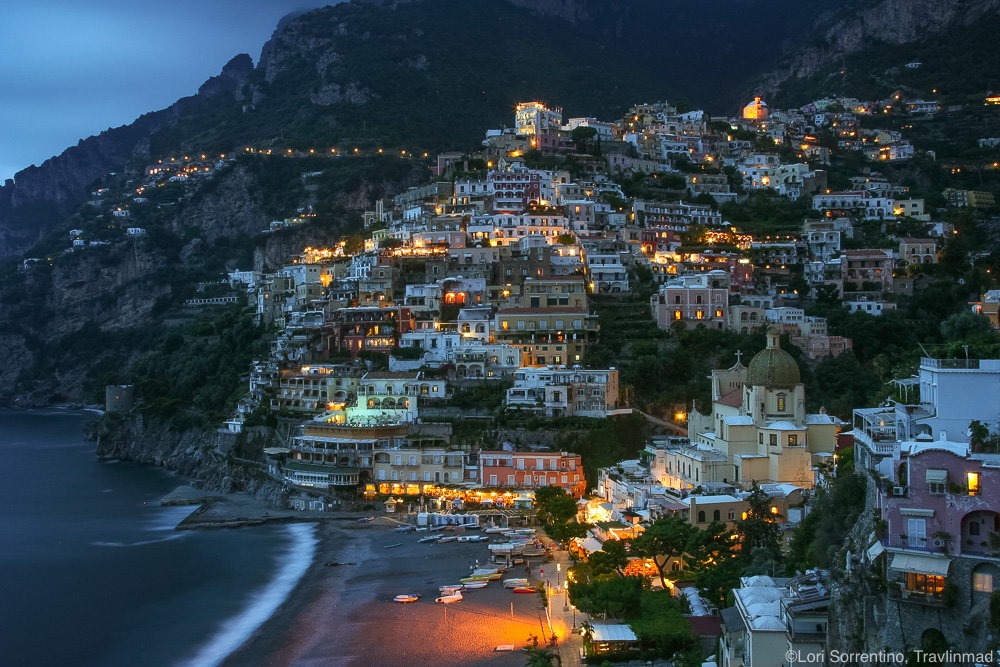 Blue Hour in Positano, Italy