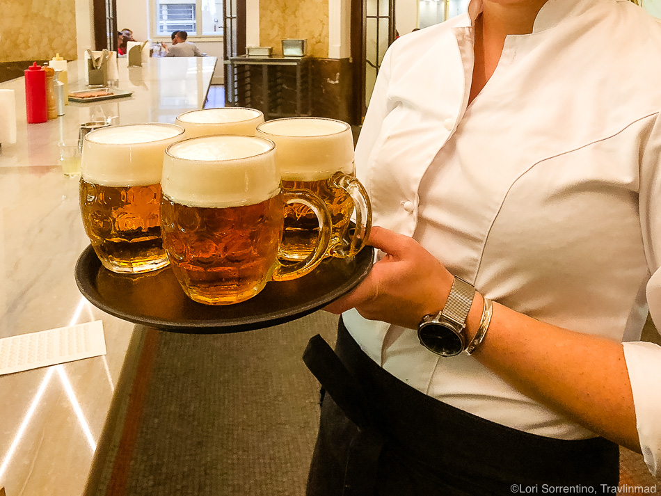 Czech beer at Kantyna, Taste of Prague food tour, Czech Republic