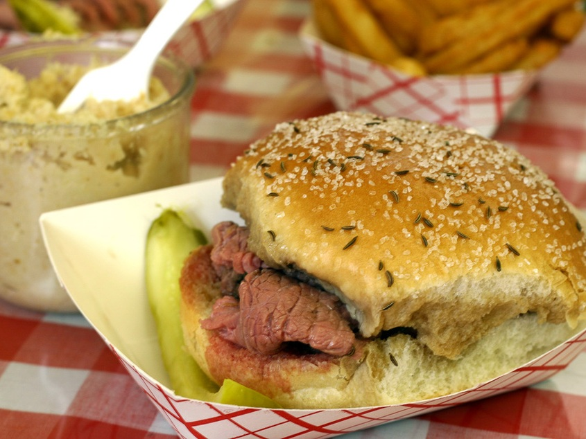 Classic Beef on Weck sandwich, Buffalo, New York