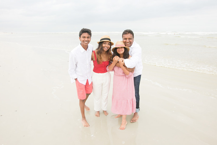 Priya and her family in Cape Town, South Africa