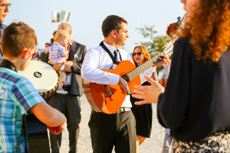 A Croatian wedding celebration. Photos by Lori Sorrentino, Travlinmad