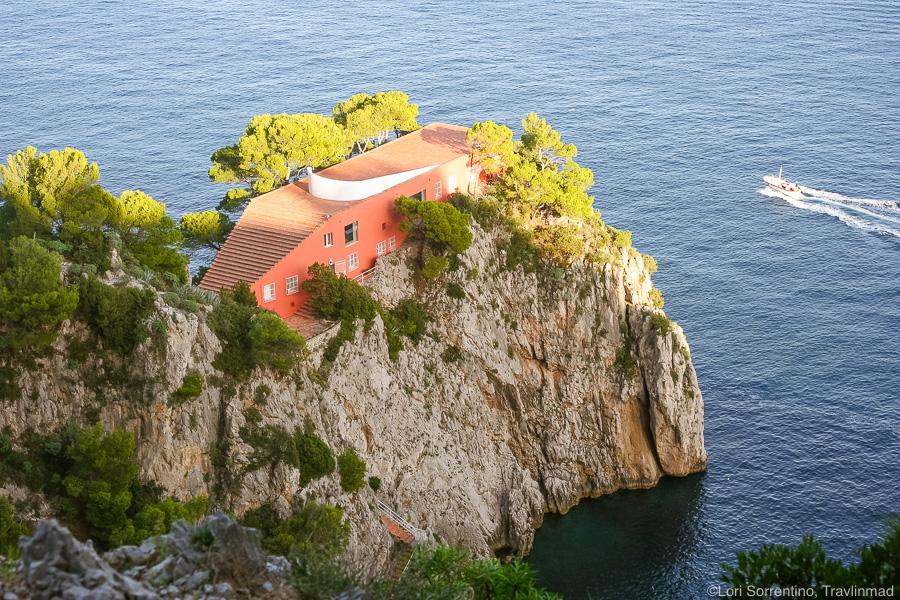 Villa of writer Curzio Malaparte