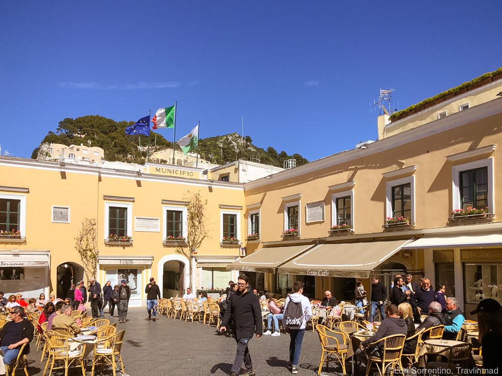 Piazzetta in Capri town, Italy