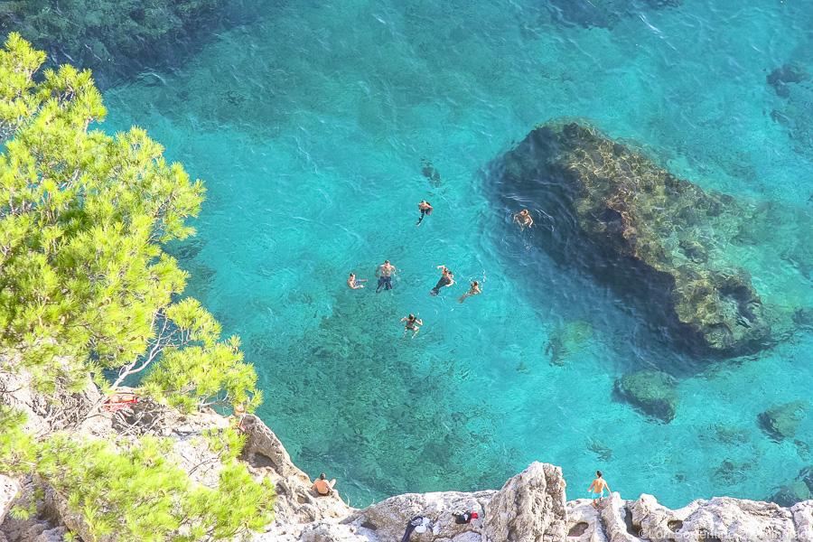 Swimmers enjoying the Mediterranean Sea