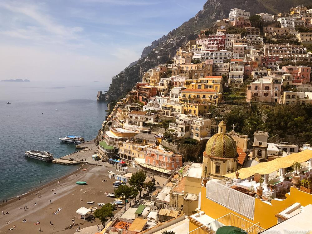 View over Positano and the Church of Santa Maria Assunta