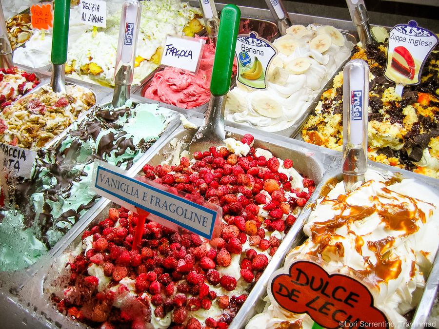 Gelato from Gelateria Primavera, Sorrento