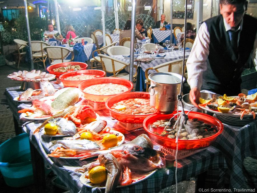 Fresh seafood, Naples